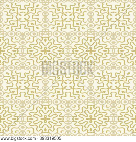 Vector Abstract Intricate Line Seamless Pattern Background.