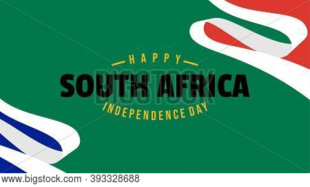 South Africa Independence Day Design With Green Background Design. Good Template For South Africa De