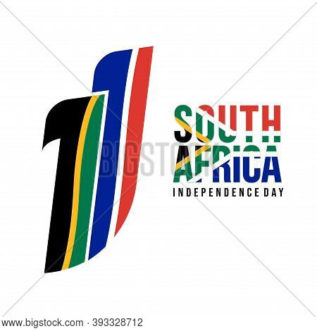 South Africa Independence Day Design With Typography Number Of 11 Vector Illustration. Good Template