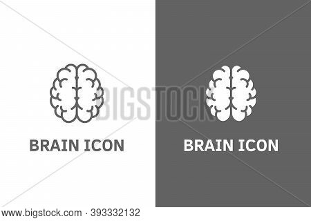 Creative Icon Of A Brain Representing Ideas, Creativity, Knowledge, Technology And The Human Mind. S