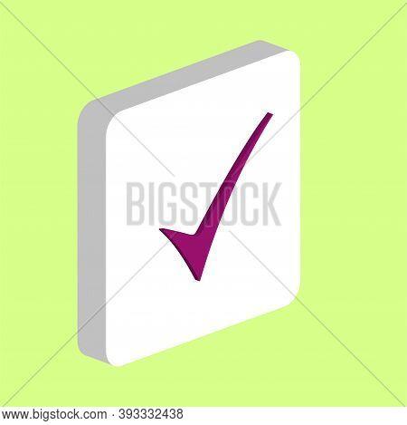 Confirm Simple Vector Icon. Illustration Symbol Design Template For Web Mobile Ui Element. Perfect C