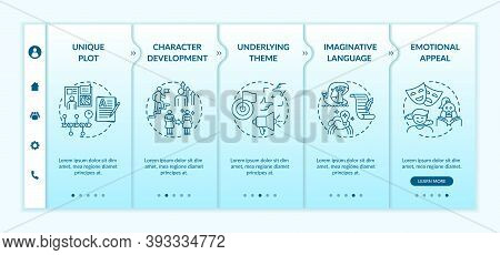 Creative Writing Elements Onboarding Vector Template. Underlying Theme For Reader. Imaginative Langu