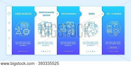 Top Careers In It For Creative Thinkers Onboarding Vector Template. Data Science. Graphic And Web De