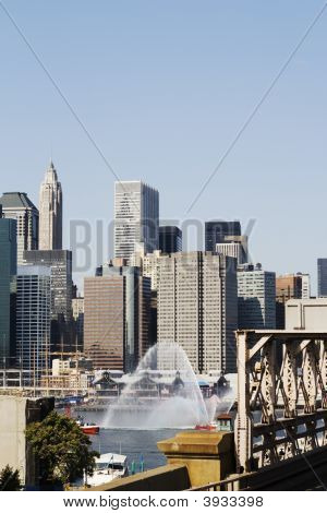 Fire Fighting Boat In New York