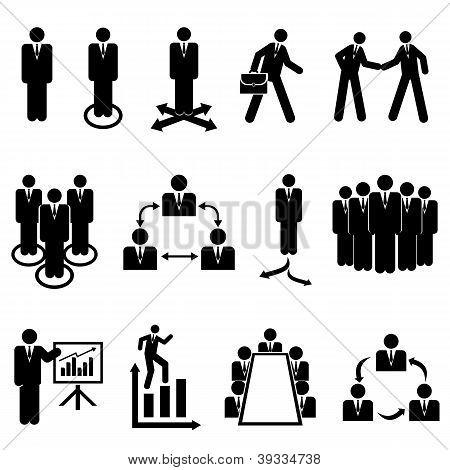 Businessmen, Teams And Teamwork