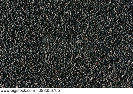Surface Grunge From Asphalt, Tarmac Gray-grainy Road.texture Background, Top View