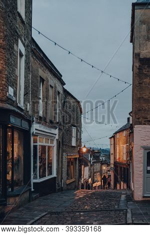 Frome, Uk - October 04, 2020: Closed Shops On A Street In Frome, A Market Town In The County Of Some