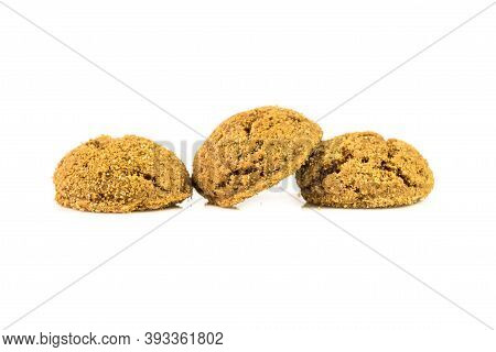 Traditional Pepernoten Treats On White Background For Annual Sinterklaas Holiday Event In The Nether