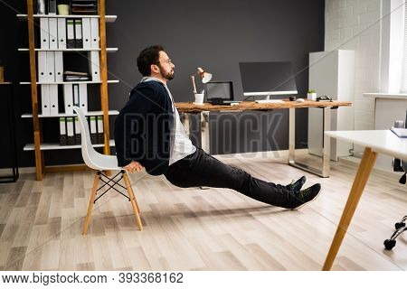 Triceps Dip Chair Workout Exercise At Office Desk