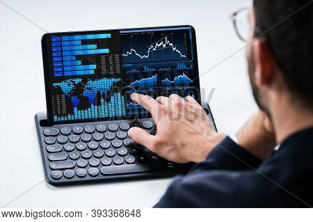 Predictive Analytics Kpi Business Data Dashboard On Tablet