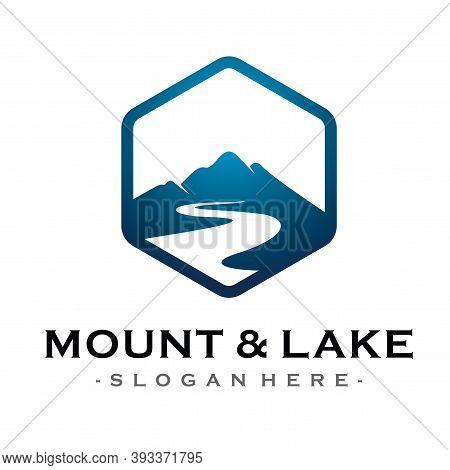 Landscape Hills Logo,  Mountain Peaks Vector Logo Template