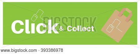 Click And Collect And Home Delivery Internet Shopping Concept To Beat Lockdown 2.0