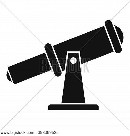 Astronomy Telescope Icon. Simple Illustration Of Astronomy Telescope Vector Icon For Web Design Isol