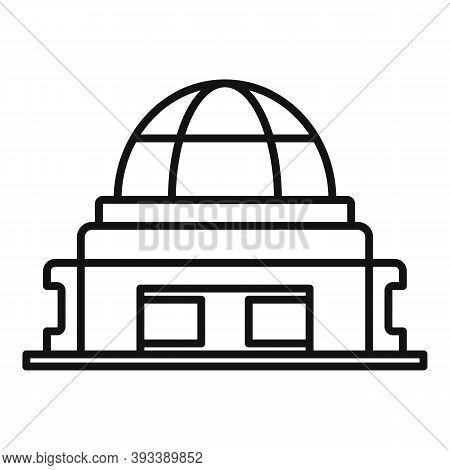 Optical Planetarium Icon. Outline Optical Planetarium Vector Icon For Web Design Isolated On White B