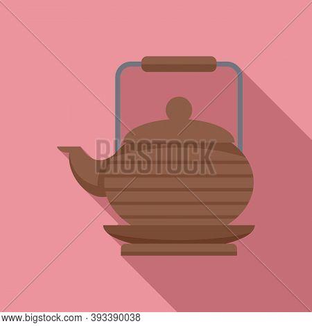 Tea Ceremony Teapot Icon. Flat Illustration Of Tea Ceremony Teapot Vector Icon For Web Design