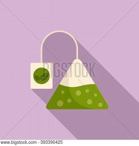 Tea Pyramide Icon. Flat Illustration Of Tea Pyramide Vector Icon For Web Design