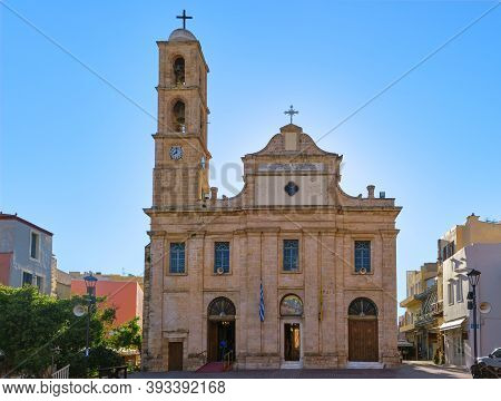 Church And Greek Orthodox Cathedral Of Presentation Of The Virgin Mary In Chania, Crete, Greece In E