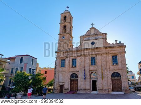 Church And Greek Orthodox Cathedral Of Presentation Of Virgin Mary In Chania, Crete, Greece In Early