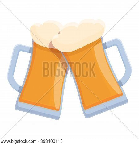 Beer Cheers Icon. Cartoon Of Beer Cheers Vector Icon For Web Design Isolated On White Background