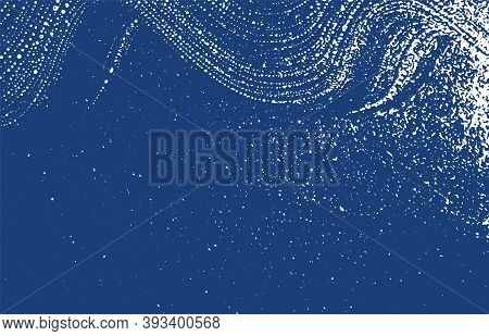 Grunge Texture. Distress Indigo Rough Trace. Exotic Background. Noise Dirty Grunge Texture. Ecstatic