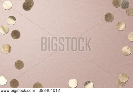 Gold confetti Christmas social media banner background with design space