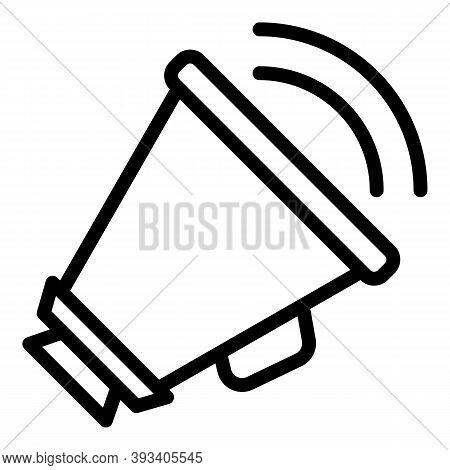 Bullhorn Agitation Icon. Outline Bullhorn Agitation Vector Icon For Web Design Isolated On White Bac