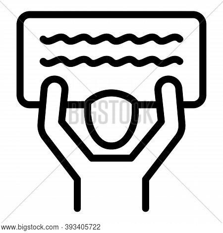Placard Agitation Icon. Outline Placard Agitation Vector Icon For Web Design Isolated On White Backg