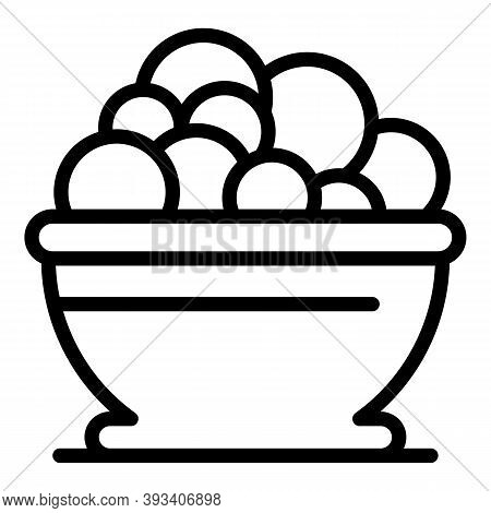 Restaurant Wash Basin Icon. Outline Restaurant Wash Basin Vector Icon For Web Design Isolated On Whi