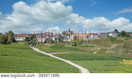 Wine Village Of Cramant In Champagne Region Near Epernay,france