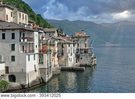 Traditional Village Of Brienno At Lake Como,lombardy,italy