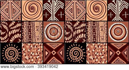 Ethnic Trend Pattern. Paintwork In African Style. Pattern Seamless African. Traditional Pattern. Pri