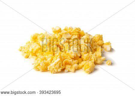 Scrambled Eggs, Omelet, Omelette, Omlet Isolated On White