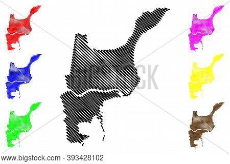 St. John The Baptist County, Louisiana (u.s. County, United States Of America, Usa, U.s., Us) Map Ve