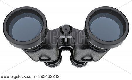 Binoculars Isolated On White Background - 3d Illustration
