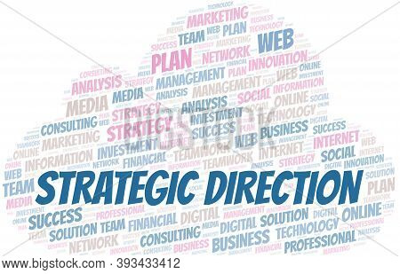 Strategic Direction Word Cloud Create With The Text Only.