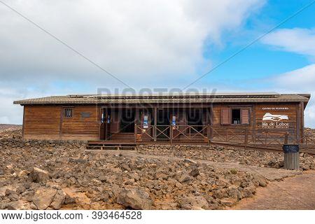 Isla Lobos, Fuerteventura, Spain: 2020 October 3: Tourist Office On Isla Lobos In Fuerteventura In S