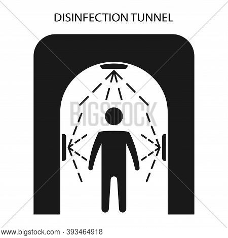Disinfection Tunnel For People. Sanitizing Station. Sanitation Tunnel. Decontamination Shower. Coron