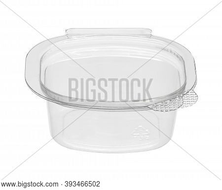 Plastic Catchup Box Disposable  (with Clipping Path) Isolated On White Background