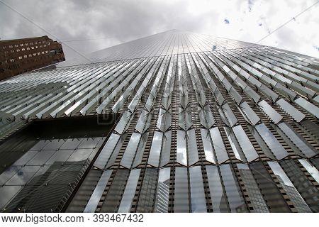 New York City, Usa - June 16 ,2018 -landmark Building Is One World Trade Center Called Tallest Build