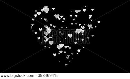 Goth Heart, Black And White Heart Shape