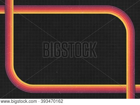 A Retro 1970's Or 1980's Dark Graphic Background Design For Use As A Product, Poster Or Flyer Backgr