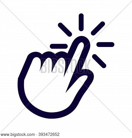 Hand Cursor Click. Web Graphic Icon For Websites And Mobile Applications Interfaces, Online Stores,