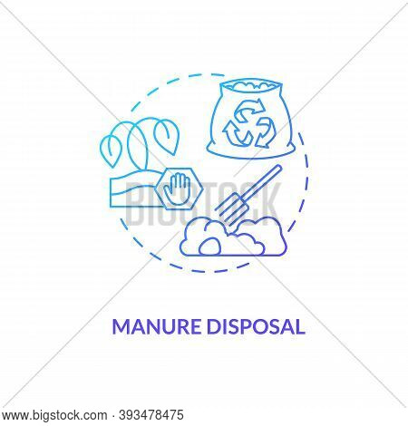 Manure Disposal Blue Gradient Concept Icon. Waste Recycle. Nutrient Bio Compost. Biodegradable Garba