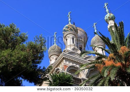 The Russian Orthodox Church in San Remo, Italy poster