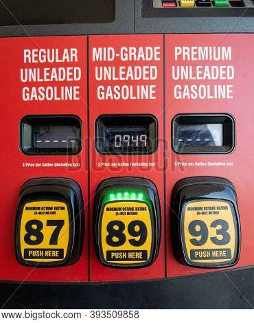 Athens, Ga, United States: May 11, 2020: Cheap Gas During The Covid Economic Downturn
