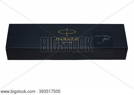 Grodno, Belarus-11.06.2020: Gift Pen Parker In A Box