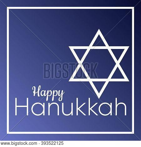 Hanukkah Candles And Magen David Happy Hanukkah