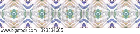 Tribal Boho Pattern. Pastel Blue And Rose Seamless Texture. Abstract Ethnic Motif. Repeat Tie Dye Il