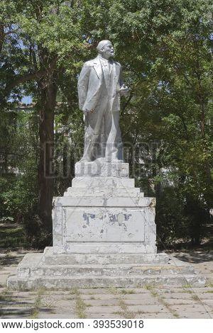 Saki, Crimea, Russia - July 23, 2020: Monument To Vladimir Ilyich Lenin In The Saki Resort Park, Cri