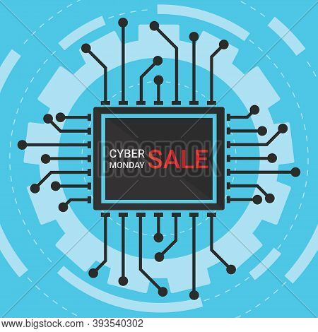 Cyber Monday Sale Symbol Or Cyber Monday Discount Banner. Special Offer Sale Tag Discount, Retail Pr